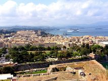 Panoramablick von Korfu-Stadt Lizenzfreies Stockbild