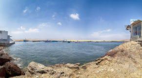 Panoramablick von Lagunillas-Strand im national Reserve von Paracas-Park, Peru lizenzfreie stockfotografie