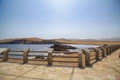 Panoramablick von Lagunillas-Strand im national Reserve von Paracas-Park, Peru lizenzfreies stockbild