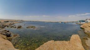 Panoramablick von Lagunillas-Strand im national Reserve von Paracas-Park, Peru stockfoto