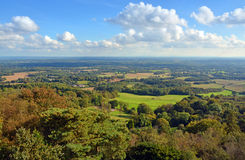 Panoramablick von Leith Hill über den Südabstiegen zu Brighto Lizenzfreie Stockfotografie