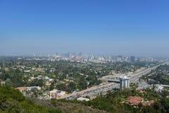 Panoramablick von Los Angeles stockbild