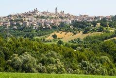 Panoramablick von Macerata Stockbild