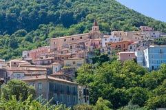 Panoramablick von Maratea. Basilikata. Italien. Lizenzfreie Stockbilder