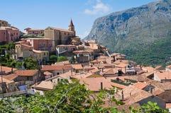 Panoramablick von Maratea. Basilikata. Italien. Lizenzfreie Stockfotos