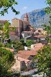 Panoramablick von Maratea. Basilikata. Italien. Stockbilder