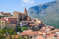 Panoramablick von Maratea. Basilikata. Italien. Lizenzfreies Stockbild
