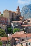 Panoramablick von Maratea. Basilikata. Italien. Stockfotos