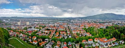 Panoramablick von Maribor Lizenzfreie Stockfotos