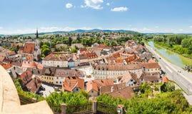 Panoramablick von Melk fand in Niederösterreich Lizenzfreie Stockfotografie