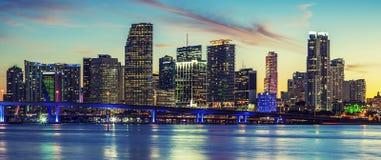 Panoramablick von Miami, spezielle photographische Verarbeitung stockfoto