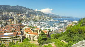 Panoramablick von Monte Carlo Stadt, Cote d'Azur, Monaco stock video