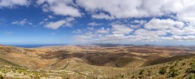 Panoramablick von Morro Velosa, Fuerteventura stockfoto