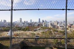 Panoramablick von Osaka-Schloss Stockbild