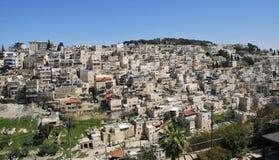 Panoramablick von Ost-Jerusalem, Israel Stockbild
