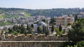 Panoramablick von Ost-Jerusalem, Israel Lizenzfreie Stockfotos