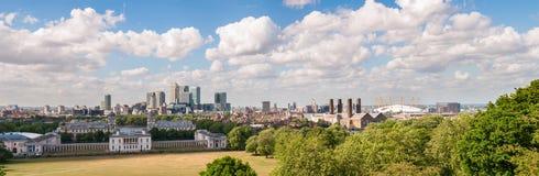 Panoramablick von Ost-London Stockbild