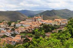 Panoramablick von Ouro Preto, Brasilien stockbilder