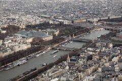 Panoramablick von Paris von der Höhe des elven Turms Lizenzfreies Stockfoto