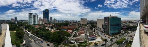 Panoramablick von Petaling Jaya Section 14 Lizenzfreies Stockbild