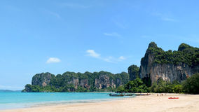 Panoramablick von Railay-Strand in Thailand Tropische Ferien Co Stockbilder
