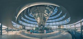 Panoramablick von Reichstag-Haube in Berlin, Deutschland Lizenzfreie Stockfotos