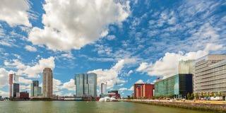 Panoramablick von Rotterdam, die Niederlande Stockfotografie