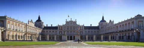 Panoramablick von Royal Palace 26. September 2017 Aranjuez Spanien stockfoto