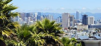 Panoramablick von San Francisco im Stadtzentrum gelegen, USA Lizenzfreie Stockbilder