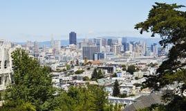 Panoramablick von San Francisco im Stadtzentrum gelegen, USA Lizenzfreies Stockbild