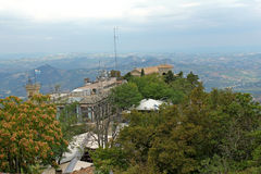 Panoramablick von San Marino Stockfoto