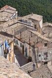 Panoramablick von SantAgata-Di Puglia. Puglia. Ita Lizenzfreies Stockfoto