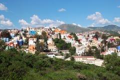 Panoramablick von schönem Guanajuato in Mexiko Lizenzfreie Stockfotos
