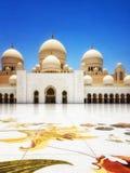 Panoramablick von Sheikh Zayed Grand Mosque, Abu Dhabi, UAE Lizenzfreies Stockbild
