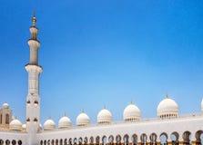 Panoramablick von Sheikh Zayed Grand Mosque, Abu Dhabi, UAE Lizenzfreie Stockfotografie