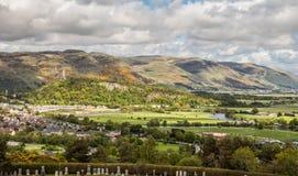 Panoramablick von Stirling stockfoto