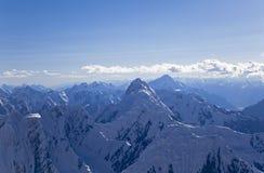 Panoramablick von Tian Shan Bergen Lizenzfreies Stockbild