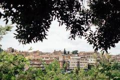 Panoramablick von Tivoli, Lazio, Italien stockfotografie