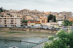 Panoramablick von Tivoli, Lazio, Italien lizenzfreie stockfotografie