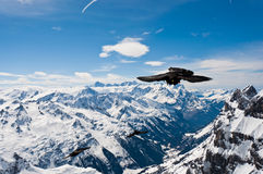 Panoramablick von Urner-Alpen stockbilder