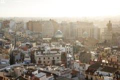 Panoramablick von Valencia, Spanien stockbilder