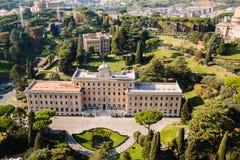 Panoramablick von Vatikanstadt Lizenzfreie Stockfotos