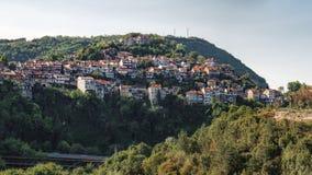 Panoramablick von Veliko Tarnovo, Bulgarien Stockfotos