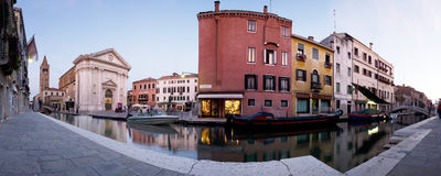 Panoramablick von Venedig-Architektur stockfotos