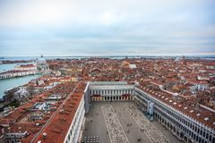 Panoramablick von Venedig vom Glockenturm di San Marco Stockfotos