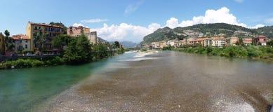 Panoramablick von Ventimiglia Lizenzfreie Stockbilder