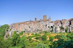 Panoramablick von Vitorchiano. Lazio. Italien. lizenzfreies stockbild