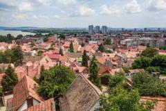 Panoramablick von Zemun Belgrad Serbien stockfoto