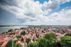 Panoramablick von Zemun Belgrad Serbien stockfotos