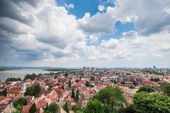 Panoramablick von Zemun Belgrad Serbien lizenzfreie stockfotografie